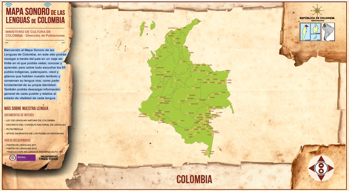imagen alusiva a Mapa Sonoro de Lenguas Nativas