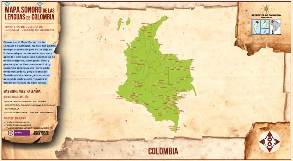 Mapa Sonoro de Lenguas Nativas